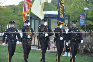 The Sussex County Sheriff's Office Color Guard marches in. Photo by Jennifer Jean Miller.