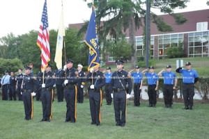 The Sussex County Sheriff's Office Color Guard and the Sussex County Police Explorers. Photo by Jennifer Jean Miller.