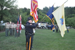 The Sussex County Sheriff's Office Color Guard. Photo by Jennifer Jean Miller.