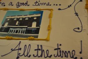 The Newton Theatre's celebratory photo cake. Photo by Jennifer Jean Miller.