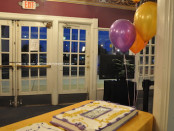 Cakes and balloons were part of the celebration at The Newton Theatre. Photo by Jennifer Jean Miller.