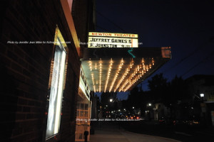 The marquee of The Newton Theatre on Sept. 11. Photo by Jennifer Jean Miller.