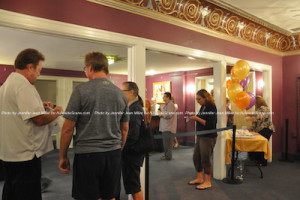 Guests in the theatre's lobby during the celebration. Photo by Jennifer jean Miller.