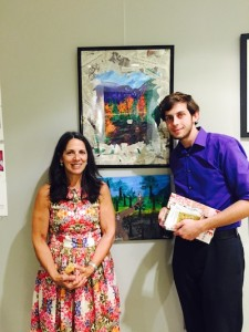 L to R: Annmarie Shafer, CFPC and artist, Daniel Hilton. Image courtesy of the Center for Prevention and Counseling.