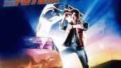 "Michael J. Fox on the ""Back to the Future"" soundtrack cover. Fair use image."