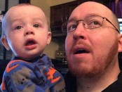 Charles Flartey and his son Tommy have become viral on YouTube with videos where Charles sings remixed versions of popular songs during Tommy's mealtimes. Facebook image courtesy of Charles Flartey.