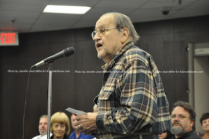Joe Kocur of Hamilton Street addresses the planning board. Photo by Jennifer Jean Miller.