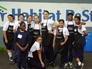 Volunteering with Habitat for Humanity. Image courtesy of the New Jersey Youth ChalleNGe Academy.