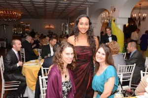 Three of the attendees stop for a smile during the gala. Photo provided.