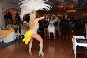 Bianca Silva leads the group in Samba lessons. Photo provided.