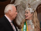 Robert B. Nicholson with Miss Brazil USA Finalist Bianca Silva. Photo provided.