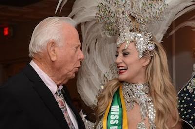 Robert B. Nicholson with Miss Brazil USA Finalist Bianca Silva. Photo provided.