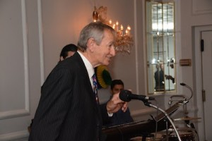 Honoree Phillip Lid at the microphone. Photo provided.