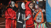 Goblins and ghouls walk around in Newton's costume parade. Photo by AJ for NJInsideScene.com.