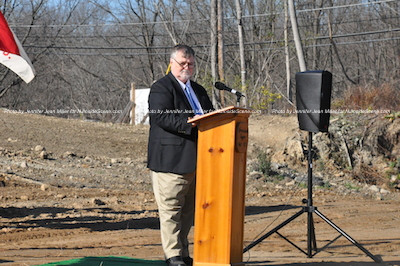 Phil Crabb, Sussex County Freeholder Director, who was the emcee at the event. Photo by Jennifer Jean Miller.