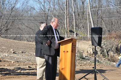 Freeholder Richard Vohden, a Korea War Veteran, talks about the start of the project. Photo by Jennifer Jean Miller.