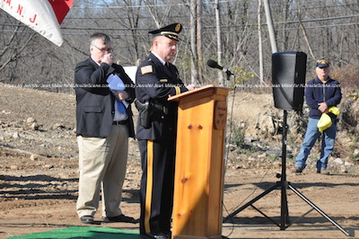 Sheriff Michael Strada, a veteran himself, praises the efforts. Photo by Jennifer Jean Miller.