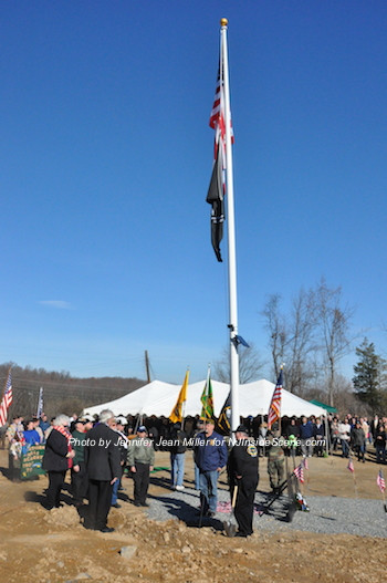 A view of the new veterans cemetery during the opening ceremony. Photo by Jennifer Jean Miller.