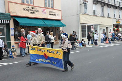 Newton Cub Scout Pack 85 leads the way for scouts. Photo by Jennifer Jean Miller.