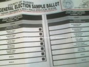 Sample ballot, courtesy of the County of Sussex.