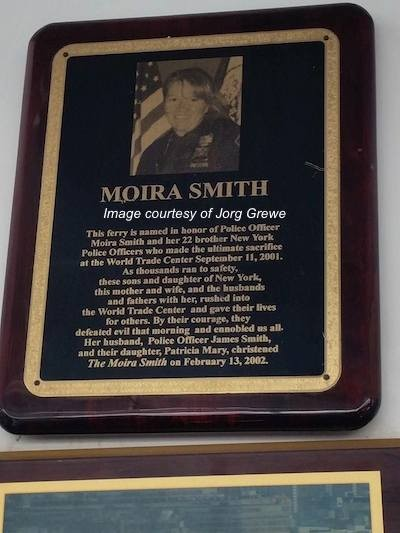 "About ""The Moira Smith,"" a New York Waterway ferry named in memory of Moira Smith. Image courtesy of Jorg Grewe."