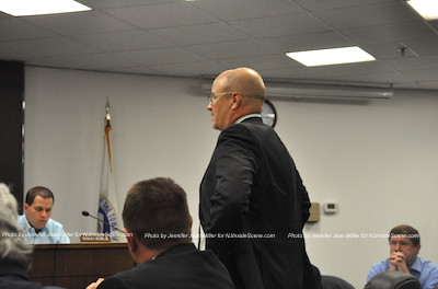Attorney for MNA Newton Realty, David Wallace, requesting that the board reopen the application for a revote. Photo by Jennifer Jean Miller.
