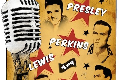 A Night to Remember - An Elvis Presley, Carl Perkins, Johnny Cash and Jerry Lee Lewis Tribute. Image courtesy of The Newton Theatre.