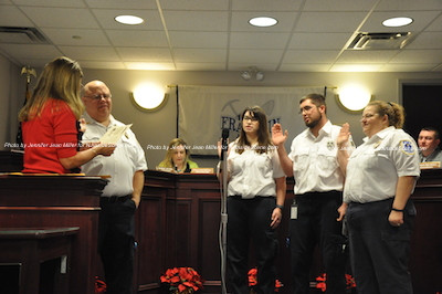 Newly appointed officers of the Wallkill Valley First Aid Squad include: Bill Lanham, Secretary: Jennifer Friend, Vice President: John Friend, and Treasurer: Cindy Lanham. Not pictured are Captain Christina Brossman and Lieutenant: Jennifer Henry. Photo by Jennifer Jean Miller.