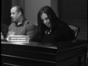 Dawn Fantasia in her seat on the council. Photo by Kelly Hart. Image provided.