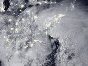 "Winter Storm ""Jonas"" blankets the entire Northeast as well as part of the Great Lakes in this NASA Public Domain image captured on Jan. 23, 2016."