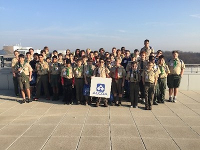 Patriots Path Boy Scouts at Kean University at STEM University, sponsored by Alcoa. Image provided.