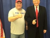 Tommy Schuldner with Donald Trump, December 2015. Photo provided.