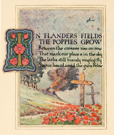 """In Flanders Field,"" an image from 1921. Image courtesy of its respective copyright owners."