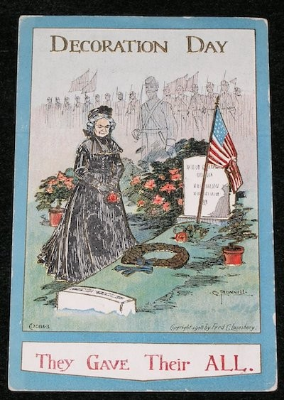 A Decoration Day Card to honor those who died during the Civil War. Copyright to the respective owners.