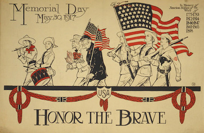 A Memorial Day poster from 1917, asking Americans to remember the fallen. Public Domain image.