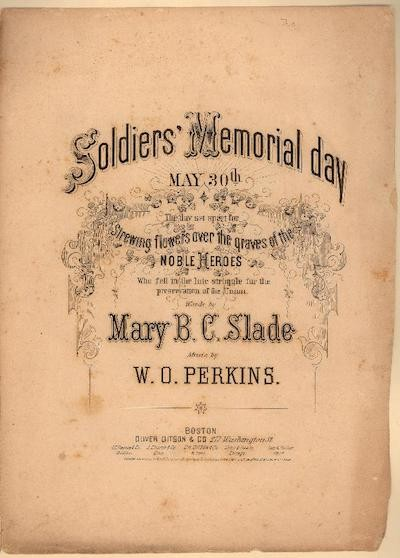 Soldiers Memorial Day, marking May 30 as a Day of Remembrance. Image courtesy of Duke Libraries.