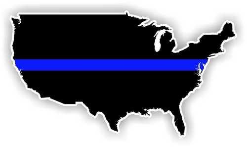 "The ""thin blue line,"" a symbol of mourning for police departments, across the United States. Image courtesy of Facebook."