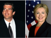 John F. Kennedy Jr. featured in a 1998 NASA image a year before his death (left) considered a run for New York Senate in 2000; Hillary Clinton (right) in her Secretary of State Portrait from 1999 won the 2000 New York Senate seat. Public domain images.