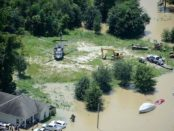 A view of the flooding in one area of Louisiana. Creative commons image by Army National Guard 1st Sgt. Paul Meeker.