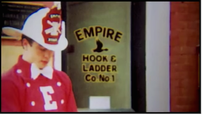 Welles Crowther as a volunteer firefighter. YouTube screenshot, fair use image.